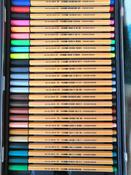 Набор капиллярных ручек линеров STABILO Point 88, 47 цветов, 50 штук, металлический футляр #6, qaw