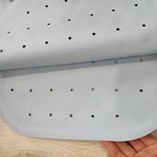 Коврик резиновый противоскользящий для ванной с отверстиями ROXY-KIDS 34,5х76 см, цвет голубой #1, Жанна В.