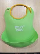 Слюнявчик детский, нагрудник для кормления ROXY-KIDS мягкий с кармашком и застежкой, цвет зеленый #13, Наталья А.