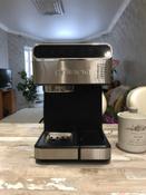 Кофеварка электрическая Рожковая Polaris PCM 1535E Adore Cappuccino, серебристый #3, Владислав Е.