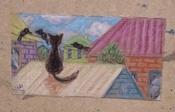 """Пастель масляная художественная для рисования Brauberg Art """"Classic"""", набор 24 цвета, утолщенная, круглое сечение #5, Сорокина Анна"""