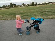 Детская игрушечная коляска-трансформер для кукол Aurora 9005 12-в-1 с люлькой-переноской и сумкой #15, саша д.