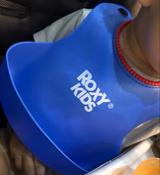 Слюнявчик детский, нагрудник для кормления ROXY-KIDS мягкий с кармашком и застежкой, цвет синий #5, Алия С.