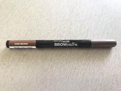 "Maybelline New York Карандаш для бровей ""Brow Satin"", карандаш + заполняющая пудра, оттенок 04, Темно-коричневый #9, Дарья Л."
