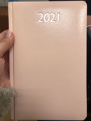 Ежедневник-планер (планинг) датированный на 2021 г. формата А5, Brauberg Profile, балакрон, светло-розовый #6, Снежана Ж.