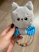 Игрушка для самых маленьких, погремушка-колечко, Котёнок Кекс, Мякиши #9, Анастасия Ч.