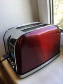 Тостер Kitfort КТ-2036, красный #120, Илья М.