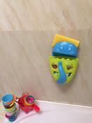 Органайзер-ковш детский для ванной для игрушек для купания DINO от ROXY-KIDS c полкой, цвет зеленый #14, Яна