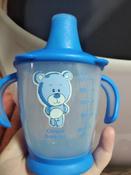 Чашка-непроливайка, Canpol Babies  180 мл. Медвежонок 9+, цвет: синий #6, Надежда К.