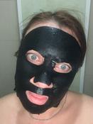 Garnier Увлажняющая черная тканевая маска Очищающий Уголь + Черные водоросли с гиуалроновой кислотой, сужающая поры, 28 гр #14, Анастасия С.