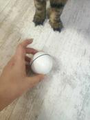Интерактивная игрушка для кошек PetLeon Вращающийся на 360 градусов мяч USB заряжаемый светодиодная подсветка #12, Мария Г.