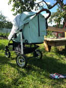 Прогулочная коляска Nuovita Corso, оливковый серебристый #13, Гаврилова С.