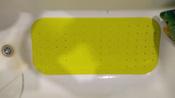 Коврик резиновый противоскользящий для ванной с отверстиями ROXY-KIDS 34,5х76 см, цвет салатовый #8, Анастасия К.