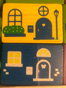 """Деревянный игровой набор Конструктор Томик """"Цветной городок"""", 41 деталь #6, Кира"""