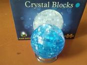 3d crystall puzzle. 3D кристаллические пазлы. Глобус со светом. цвет синий #1, Анна Ч.