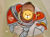 Круг надувной на шею для купания новорожденных и малышей Flipper Рыцарь от ROXY-KIDS #13, Анастасия А.