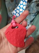 Прорезыватель/грызунок/игрушка для детей на держателе ROXY-KIDS, цвет голубой-розовый (кружочек) #10, Надежда Т.