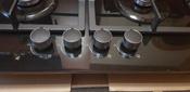 Варочная панель газовая HCG-469, стекло 4 конф, черная #7, Зухрания К.