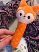 Игрушка пищалка для самых маленьких: Лисичка Апельсинка, Мякиши #1, Polina K.