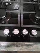 Варочная панель газовая HCG-469, стекло 4 конф, черная #3, Светлана С.