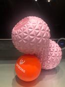 Массажный ролик Bodyboss GRANULA TWIN BALL / Розовый / 16х9 см / Двойной / Мячики массажные / Массажный мяч #12, Елизавета Р.
