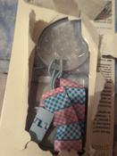 Прорезыватель/грызунок/игрушка для детей на держателе ROXY-KIDS, цвет голубой-розовый (клеточка) #5, Диана Ю.