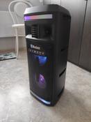 Музыкальный центр Ginzzu GM-208 с функцией Bluetooth v4.2, 50Вт, USB-flash, microSD, FM-радио, пульт ДУ, эквалайзер, КАРАОКЕ, динамическая LED подсветка динамиков #14, Юлия Р.