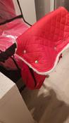 Муфта для коляски для рук на ручку коляски меховая на кнопках Melanie от ROXY-KIDS, цвет красный #4, Иван К.