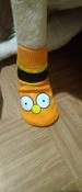 Прорезиненные теплые носки для собак Грызлик Ам, Цвет Оранжевый, Размер 3XL (A-66мм, B-80мм, C-50мм, D-150мм) #7, Юлия В.
