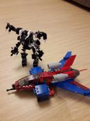 Конструктор LEGO Marvel Super Heroes 76150 Реактивный самолёт Человека-Паука против Робота Венома #11, Елена П.