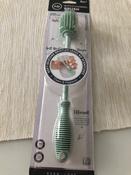 11024, Ёршик силиконовый Happy Baby для мытья бутылочек, pistachio #11, Сима Д.