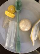11024, Ёршик силиконовый Happy Baby для мытья бутылочек, pistachio #12, Елена В.