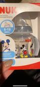 NUK FС+ ДИСНЕЙ Микки Маус обучающая бутылочка с силиконовой насадкой, 150 мл - черная #10, Алена К.