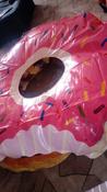 """Круг надувной пончик Радуга """"Клубничный пончик"""", 120см #2, Эльмира У."""