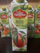 Сады Придонья Сок яблочно-персиковый с мякотью восстановленный, 1 л #123, Ярина