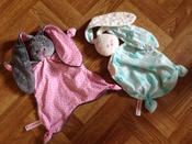 Игрушка комфортер для новорожденных, Плюш серо-коричневый, Мякиши #1,  Ксения