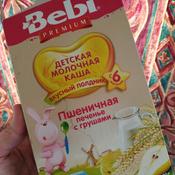 Bebi Премиум каша Печенье с грушами пшеничная молочная, с 6 месяцев, 200 г #7, Валерия