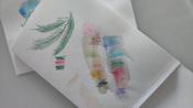 Акварельные карандаши шестигранные ArtBerry, с кисточкой, 12 цветов #12, Ольга У.