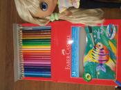 Акварельные карандаши COLOUR PENCILS с кисточкой, набор цветов,  в картонной коробке, 24 шт. #12, Елена К.