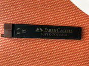 Faber-Castell Грифель для карандаша Superpolymer H 0,5 мм 12 шт #6, Светлана