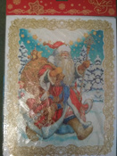 """Новогоднее оконное украшение """"Дед Мороз"""". 31251 #2, SOL ANNA"""