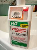"""Средство """"HG"""" для удаления известкового, цементного налета и пятен, 1 л #9, ольга"""