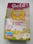 Bebi Премиум каша Печенье с грушами пшеничная молочная, с 6 месяцев, 200 г #5, Ирина Н.