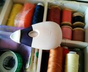 """Меловое колесико Prym """"Мышка"""", с мягкой ручкой, цвет: белый, синий #15, Юни Р."""