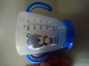 Чашка-непроливайка, Canpol Babies  180 мл. Медвежонок 9+, цвет: синий #14, Екатерина