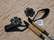 """Палки для скандинавской ходьбы Larsen """"Tracker"""", двухсекционные, цвет: темно-зеленый, черный, длина 90-135 см, 2 шт #8, Оксана П."""