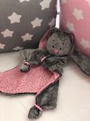 Игрушка комфортер для новорожденных, Плюш серо-коричневый, Мякиши #15, Лисенко Анна