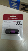 USB Флеш-накопитель Transcend Transcend JetFlash 500 , Purple Black #13, ПД УДАЛЕНЫ