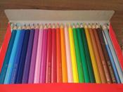 Акварельные карандаши COLOUR PENCILS с кисточкой, набор цветов,  в картонной коробке, 24 шт. #10, Елена К.