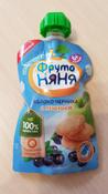 Фрутоняня пюре яблоко, черника печенье с 6 месяцев, 90 г #137, Ольга П.